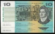 World Coins - Australia, 1972 Ten Dollars, $10, Phillips/Wheeler, R304 (Consecutive Pair) - Uncirculated