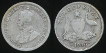 World Coins - Australia, 1936 Threepence, 3d, George V (Silver) - Average