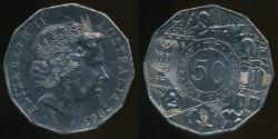 World Coins - Australia, 2003 Fifty Cents, 50c, Elizabeth II (Volunteers) - Uncirculated