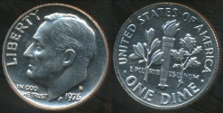 World Coins - United States, 1976-S Dime, Roosevelt - Proof