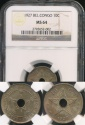 World Coins - Belgian Congo, Colony, 1927 10 Centimes - NGC MS64
