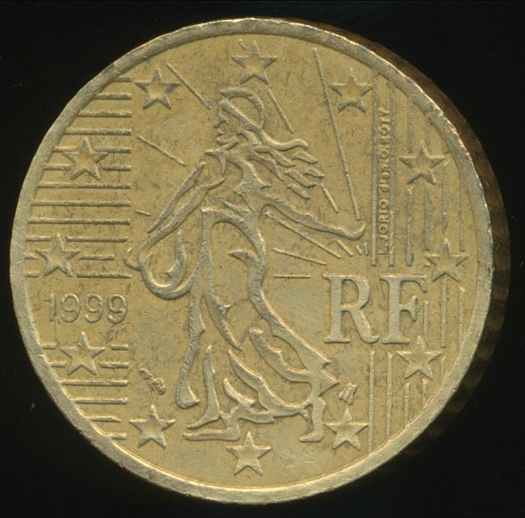 france modern republics 1999 50 euro cent very fine. Black Bedroom Furniture Sets. Home Design Ideas