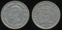 World Coins - Ecuador, Republic, 1937 1 Sucre - Very Fine