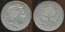World Coins - Australia, 2001 20 Cents (Federation, NSW) - Uncirculated