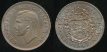 World Coins - New Zealand, 1947 1/2 Crown, George VI - gEF/Unc