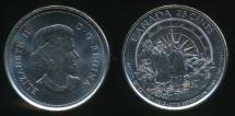 World Coins - Canada, Confederation, 2013 25 Cents, Elizabeth II (Explorers) - Uncirculated