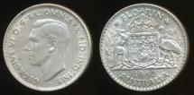World Coins - Australia, 1942(m) Florin, 2/-, George VI (Silver) - Very Fine
