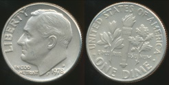 World Coins - United States, 1978-D Dime, Roosevelt - Choice Uncirculated