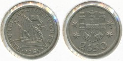 World Coins - PORTUGAL - 1965, 2-1/2 Escudos, KM# 590