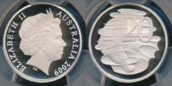 World Coins - Australia, 2009 Twenty Cents, 20c, Elizabeth II - PCGS PR69DCAM (Proof)