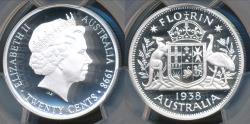 World Coins - Australia, 1998 Twenty Cents 20c 1938 Florin (Silver) - PCGS PR68DCAM (Proof)