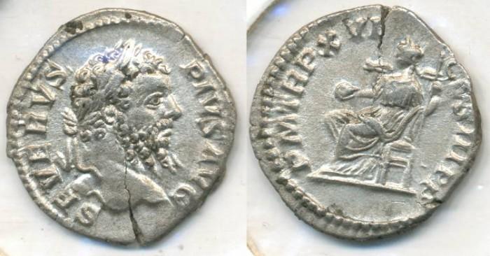 Ancient Coins - SEPTIMIUS SEVERUS, AR Denarius, AD 193-211, Rome mint, (20mm, 2.44 gm) - RIC 218