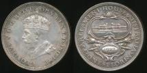 World Coins - Australia, 1927 Florin, 2/-, George V (Canberra)(Silver) - gEF/aUnc