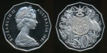 World Coins - Australia, 1981 Fifty Cents, 50c, Elizabeth II - Proof