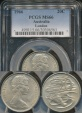World Coins - Australia, 1966(L) Twenty Cents, 20c, Elizabeth II - PCGS MS66