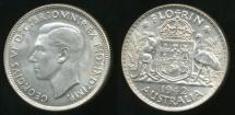 World Coins - Australia, 1942(m) Florin, 2/-, George VI (Silver) - Uncirculated