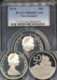 World Coins - New Zealand, 1975 Fifty Cents, 50c, Elizabeth II - PCGS PR66DCAM