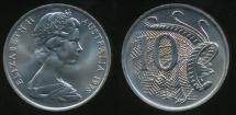 World Coins - Australia, 1978 Ten Cents, 10c, Elizabeth II - Choice Uncirculated
