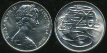 World Coins - Australia, 1980 Canberra 20 Cent, Elizabeth II - Choice Uncirculated