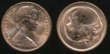 World Coins - Australia, 1975 One Cent, 1c, Elizabeth II - Uncirculated