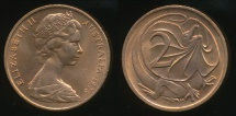 World Coins - Australia, 1978 Two Cents, 2c, Elizabeth II - Uncirculated