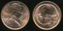 World Coins - Australia, 1975 One Cent, 1c, Elizabeth II - Uncirculated