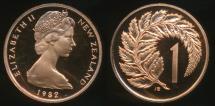 World Coins - New Zealand, 1982 One Cent, 1c, Elizabeth II - Proof