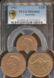 World Coins - Australia, 1941 Halfpenny, George VI - PCGS MS64RB