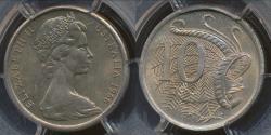 World Coins - Australia, 1966(L) Ten Cents, 10c, Elizabeth II - PCGS MS66 (Gem Unc)
