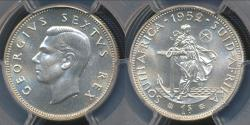 World Coins - South Africa, 1952 1 Shilling, George VI (Silver) - PCGS PR65 (Proof)