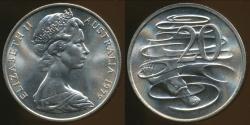 World Coins - Australia, 1979 Canberra 20 Cent, Elizabeth II - Choice Uncirculated