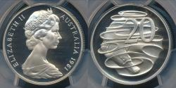 World Coins - Australia, 1981 Twenty Cents, 20c, Elizabeth II - PCGS PR69DCAM (Proof)