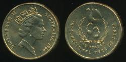 World Coins - Australia, 1986 One Dollar, $1, Elizabeth II (Year of Peace) - Uncirculated