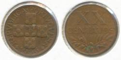 World Coins - PORTUGAL - 1956, 20 Centavos, KM# 584