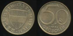 World Coins - Austria, Republic, 1993 50 Groschen - Uncirculated