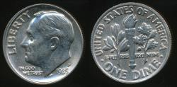 World Coins - United States, 1985-P Dime, Roosevelt - Uncirculated