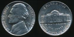 World Coins - United States, 1981-P 5 Cents, Jefferson Nickel - Uncirculated