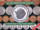 World Coins - Australia, 1991 Uncirculated Mint set of 8 coins