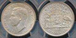 World Coins - Australia, 1946 Florin, 2/-, George VI (Silver) - PCGS MS64 (Ch-Unc)