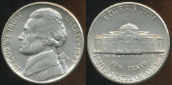 World Coins - United States, 1987-P 5 Cents, Jefferson Nickel - Uncirculated