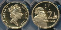 World Coins - Australia, 1990 Two Dollar, $2, Elizabeth II - PCGS PR69DCAM (Proof)