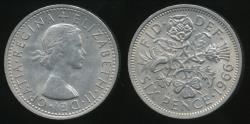 World Coins - Great Britain, Kingdom, 1966 6 Pence, Elizabeth II - almost Uncirculated