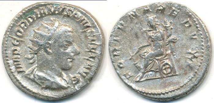 Ancient Coins - GORDIAN III, AR Antoninianus, AD 238-244, (22mm, 4.51 g) Rome mint - RIC 144
