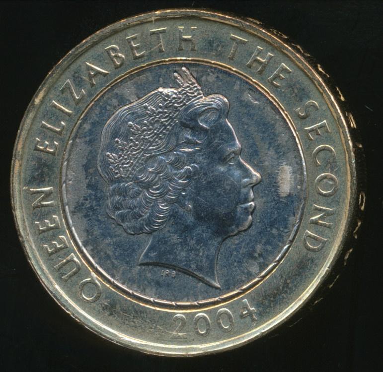 FALKLAND ISLANDS//MALVINAS 2 POUNDS  UNC 2004