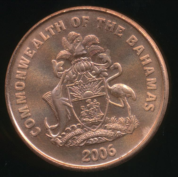 Bahamas Commonwealth 2006 1 Cent Elizabeth Ii Uncirculated