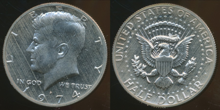 World Coins - United States, 1974-S Half Dollar, Kennedy - Proof