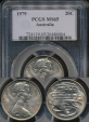 World Coins - Australia, 1979 Twenty Cents, 20c, Elizabeth II - PCGS MS65