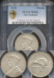 World Coins - New Zealand, 1935 Florin, George V (Silver) - PCGS MS62