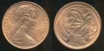 World Coins - Australia, 1974 2 Cents, Elizabeth II - Uncirculated