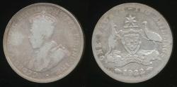 World Coins - Australia, 1922 Florin, 2/-, George V (Silver) - Poor